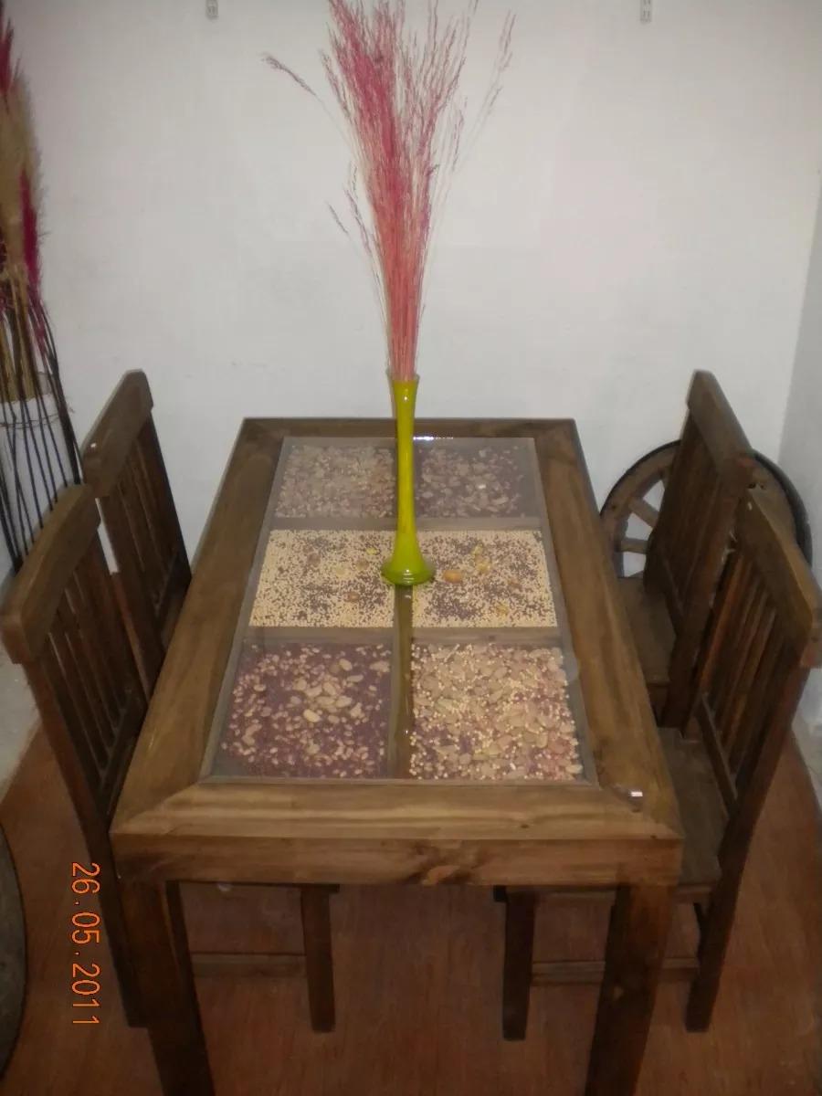 Muebles Rusticos En Tigre Mesa Cerealera Comedor 1.40x0.80 - $ 5.700 ...