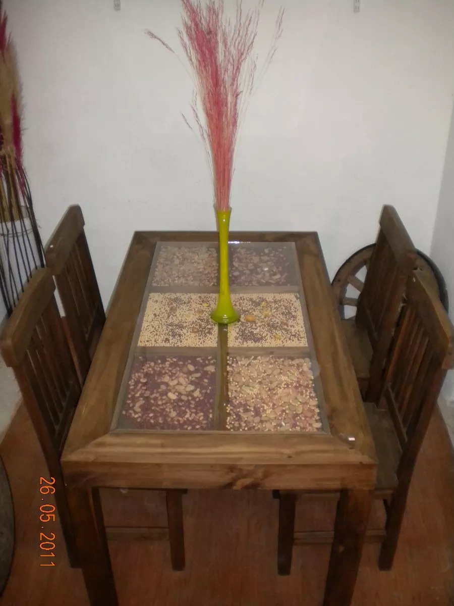 Muebles Rusticos En Tigre Mesa Cerealera Comedor 1.40x0.80 - $ 6.800 ...