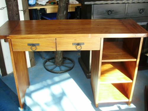 Muebles rusticos escritorio estudiantil madera maciza - Escritorios madera maciza ...