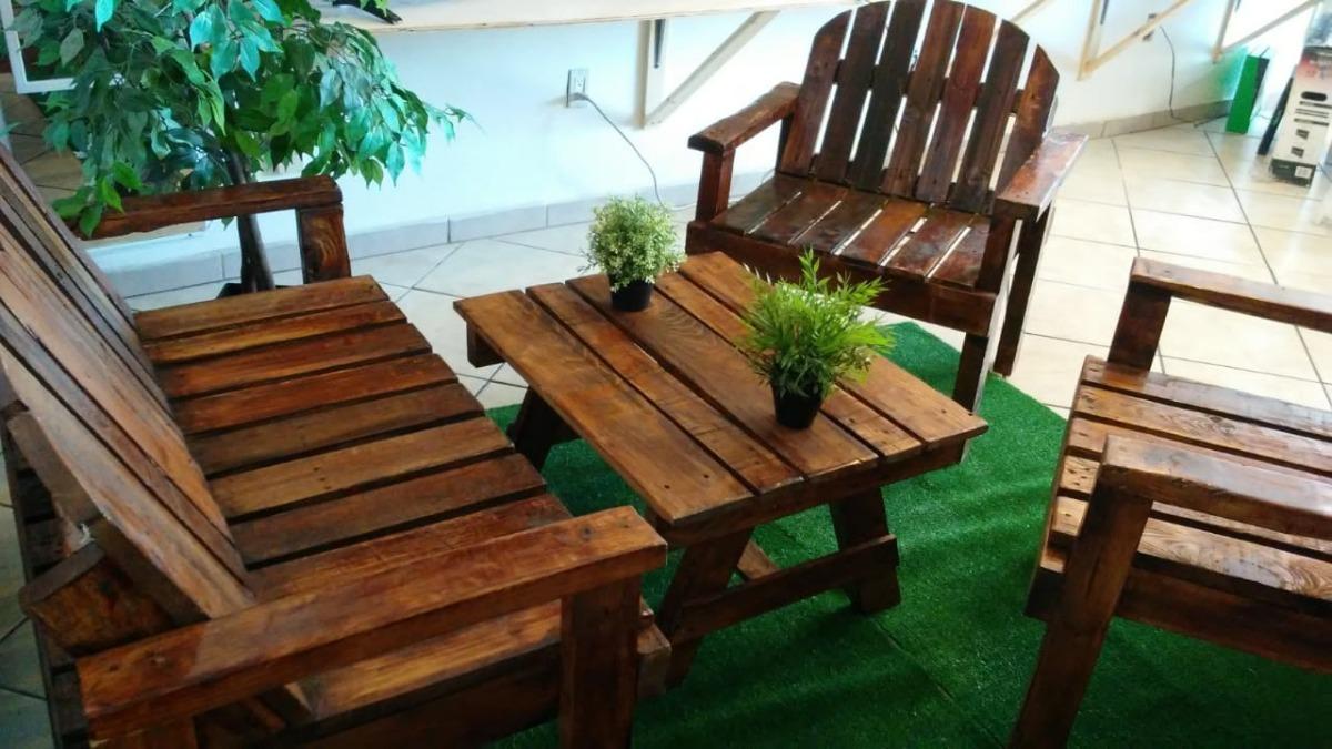 Muebles Rusticos Para Patio O Jardin Nuevos 3 200 00 En Mercado
