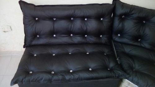 muebles sala semi cuero