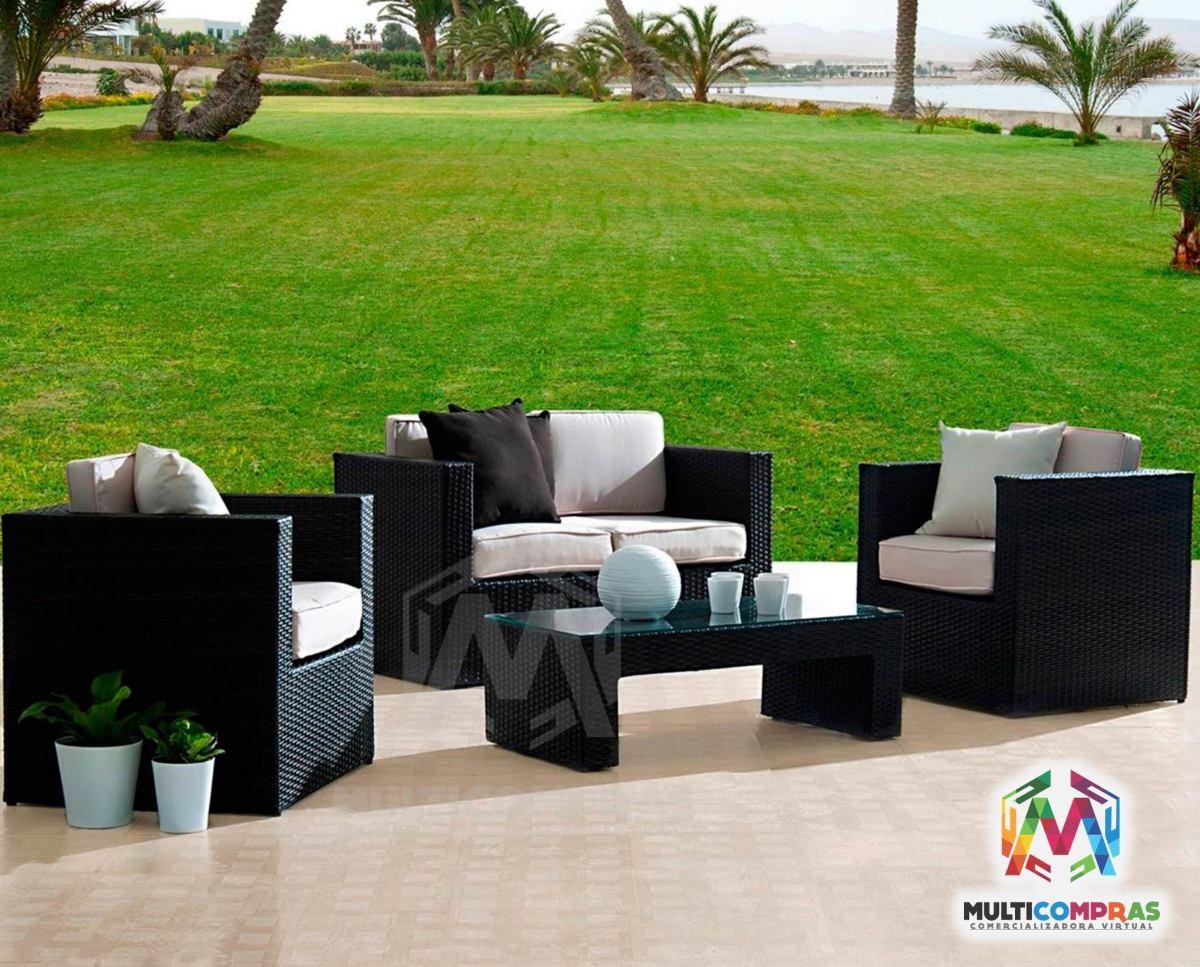 Juego de sala para terraza exteriores muebles finca silla for Muebles balcon terraza
