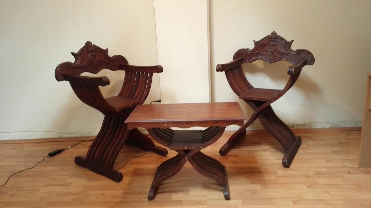 Muebles silla rey artesanal madera 15 en for Muebles sillas de madera