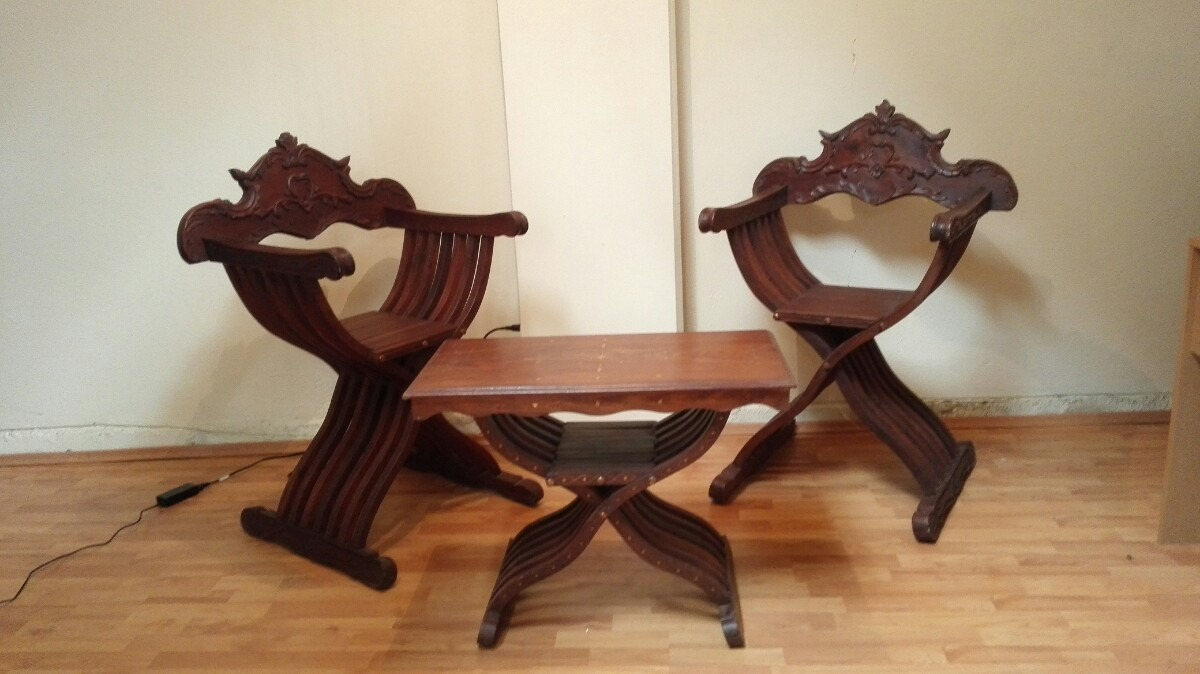 Muebles silla rey artesanal madera 15 en for Muebles rey sillas