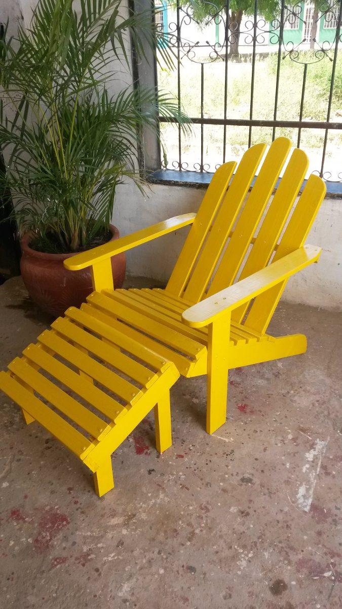 Muebles sillas de madera adirondack o de paletas para for Muebles de madera para ninos