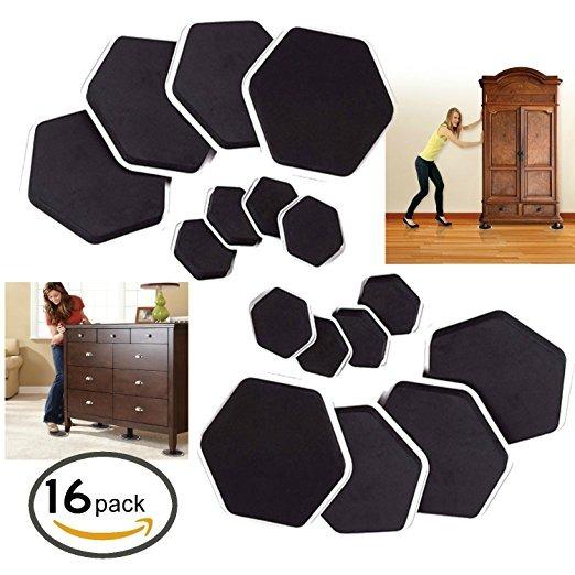 Muebles Sliders Y Pies En Movimiento Pads 16-pc Para Mover L ...