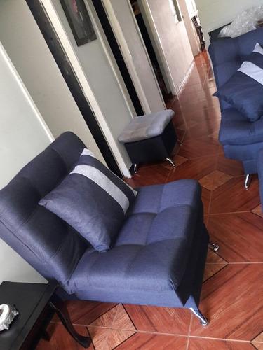 muebles ,sofá cama un año de garantía  tela fina 4 artículos