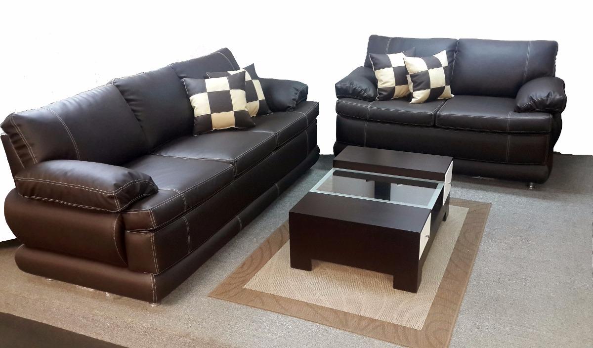 Muebles Sofa Juego De Sala Clasico En Bipiel Somos Fabrica Bs  # Muebles En Bipiel Mercadolibre