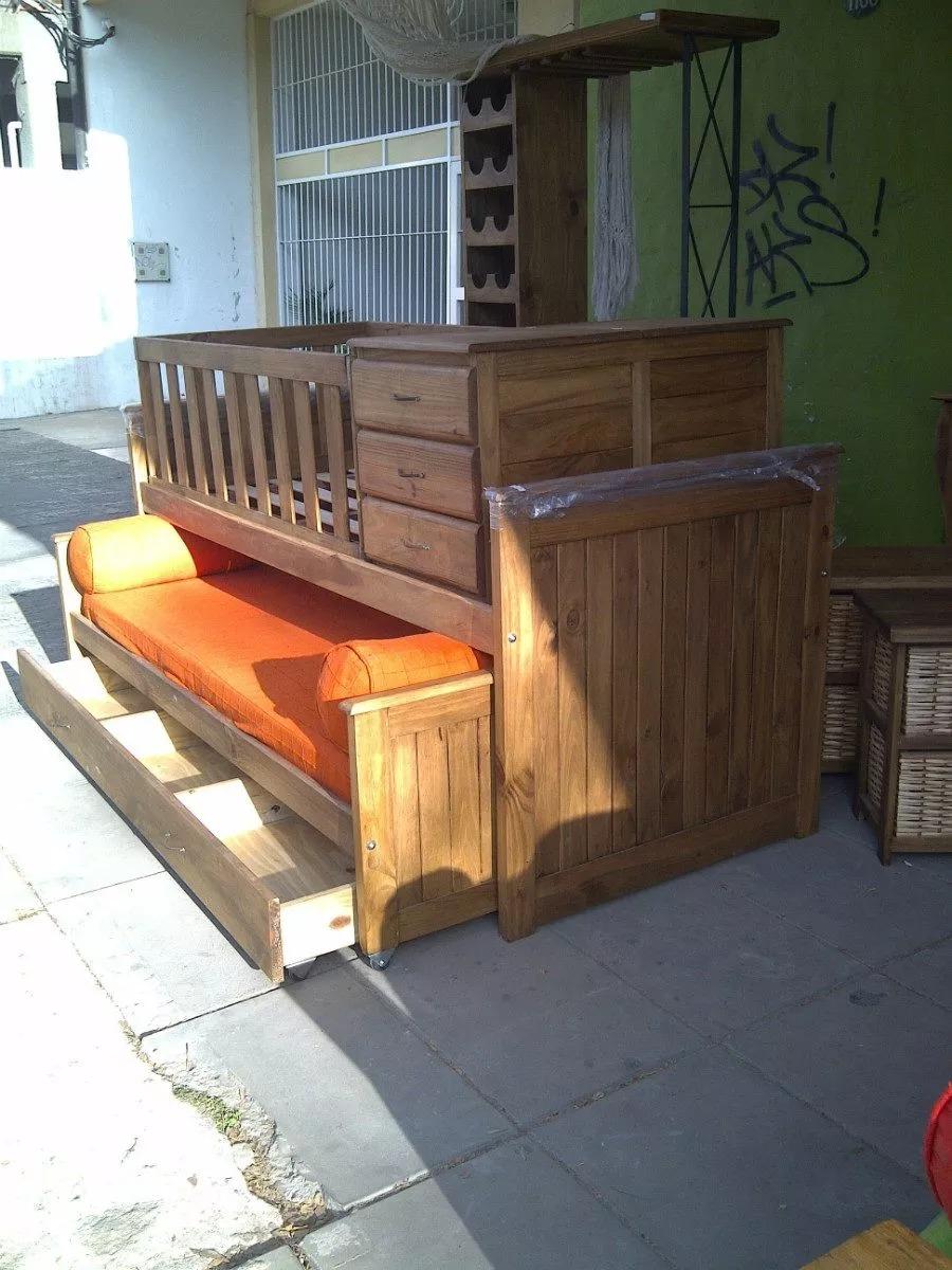 Muebles Tigre Cama Cuna Funcional En Madera Modelo Mickey - $ 8.790 ...