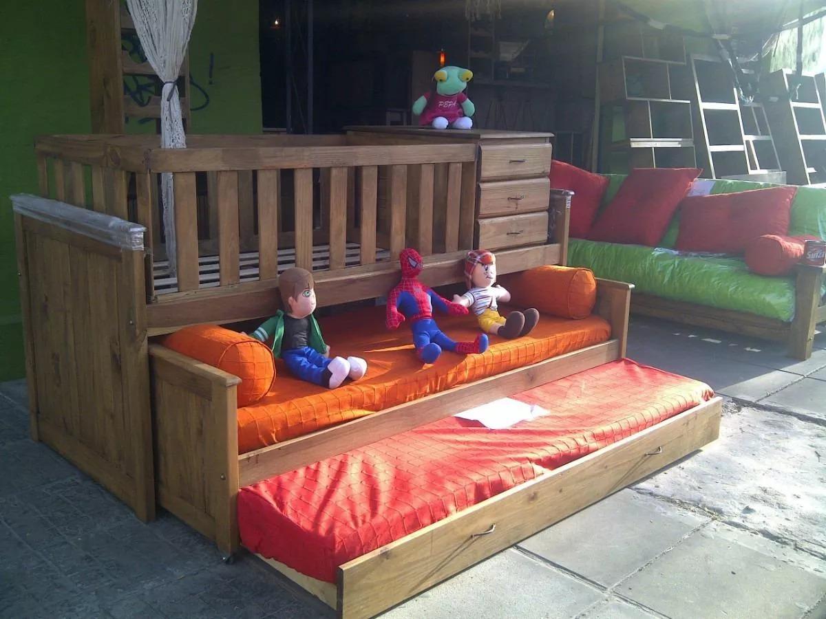 Muebles Tigre Cama Cuna Funcional En Madera Modelo Nido - $ 8.790,00 ...