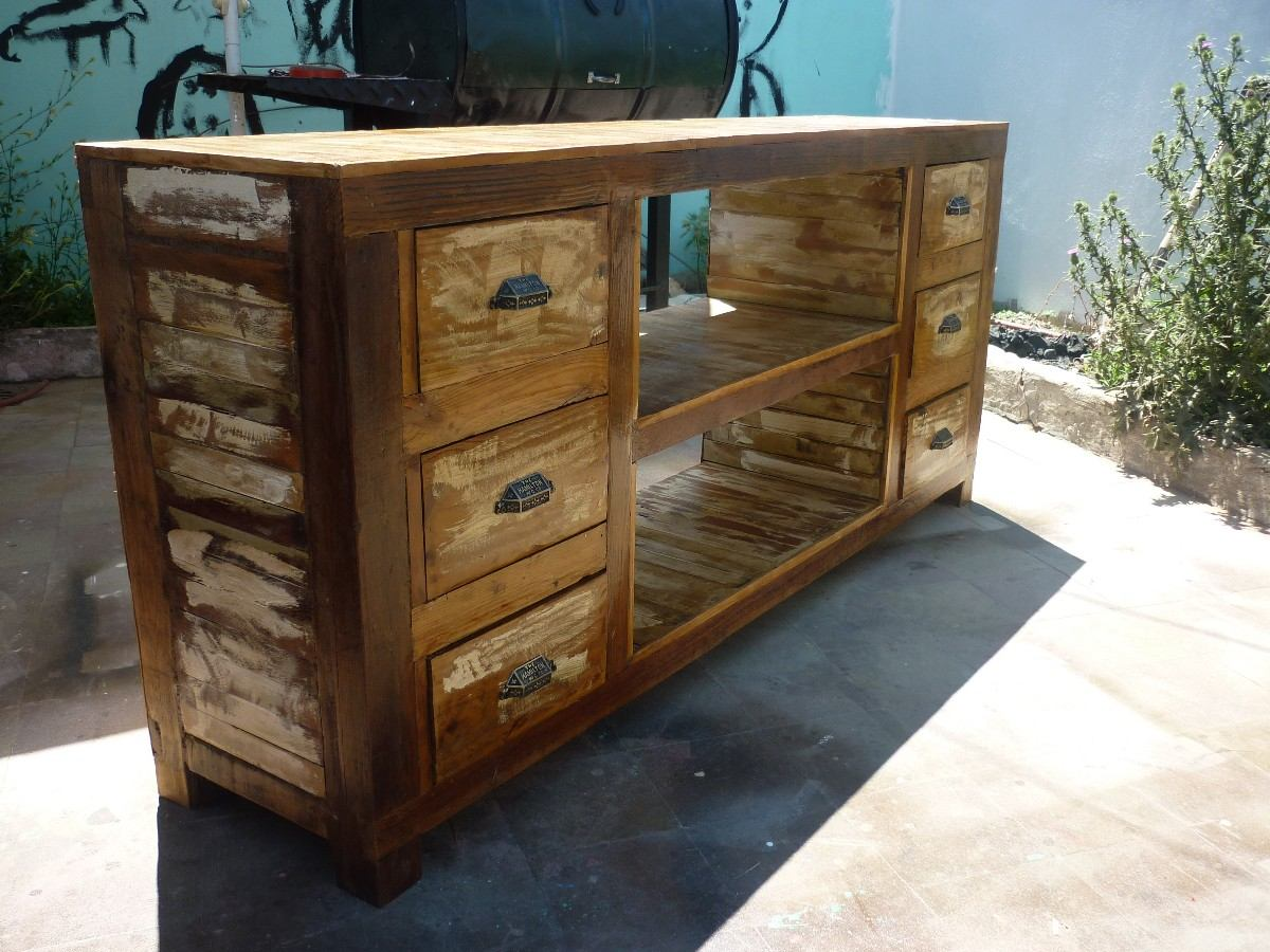 Mueblestv find this pin and more on muebles tv by - Mueble recibidor rustico ...