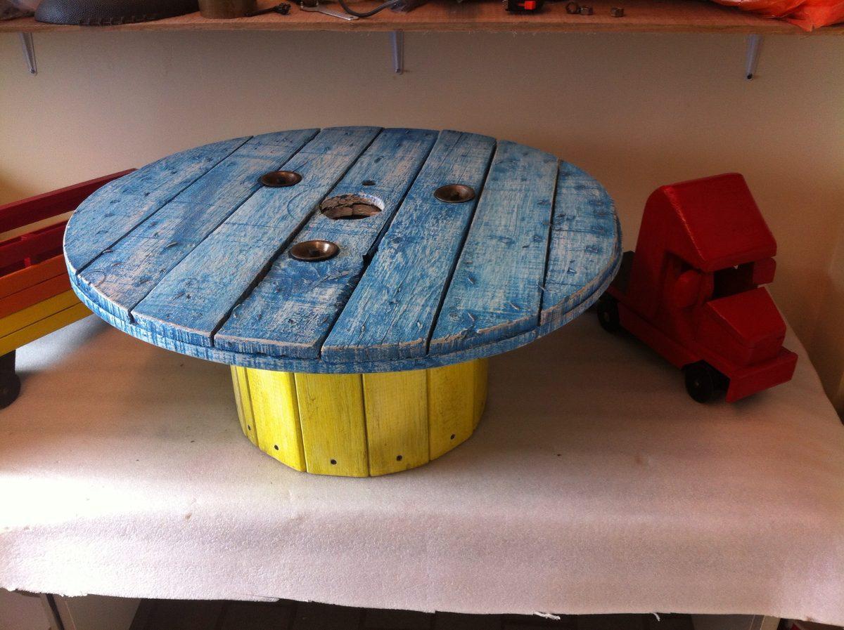 Muebles vintage antiguo reciclados mesa de carrete for Muebles vintage reciclados