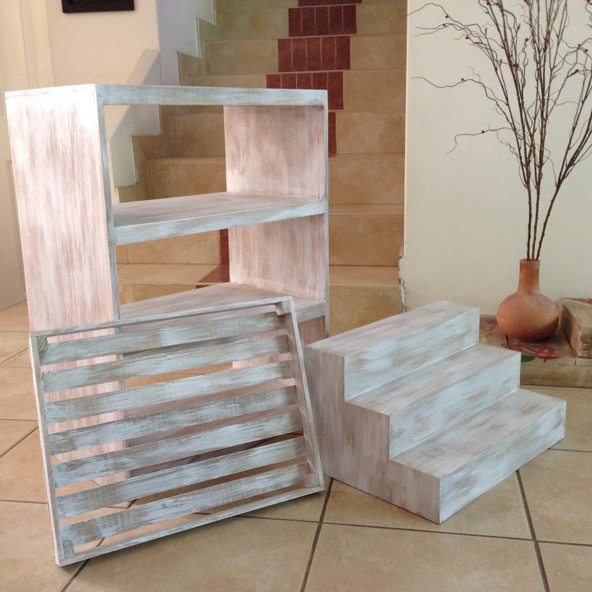Muebles vintage para mesa de dulces jgo 3 piezas for Muebles vintage com