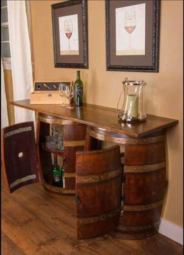 muebles y decoración en barricas de roble