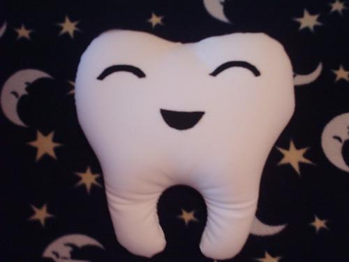 muela almohada cojin antiestres nuevo juguete odontólogo