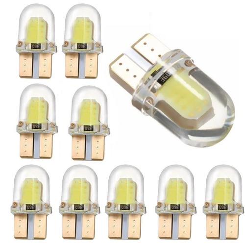 muelita mini t10 led silicon 12v 1w cob blanca alto brillo