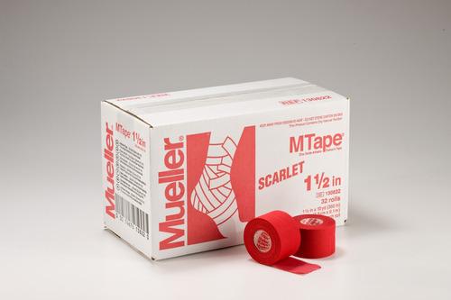 mueller cinta m tape mueller roja 32 rollos 3.8 cm x 9.1 m
