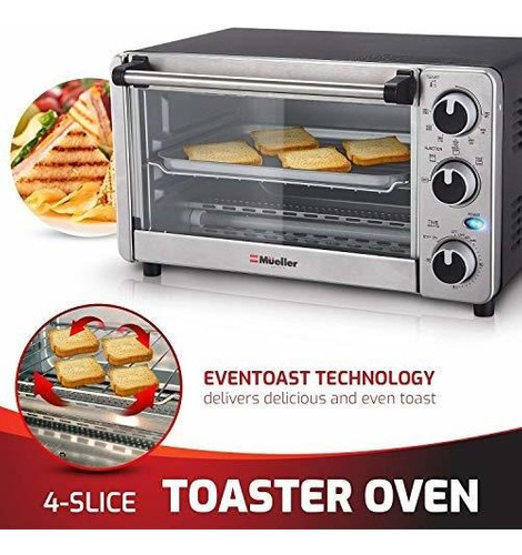 mueller horno tostador hornear asar 1100 watts