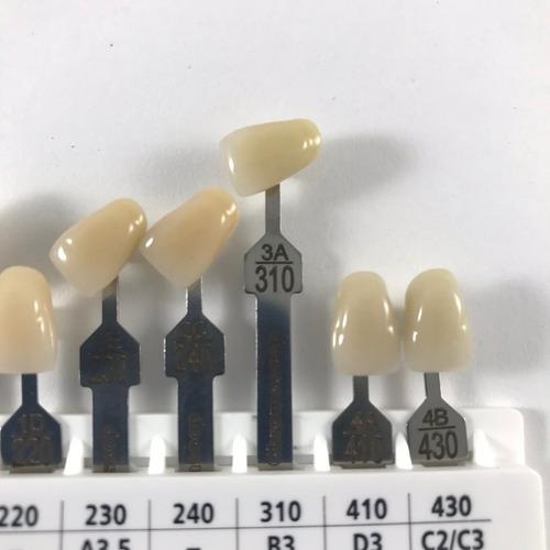 muestrario de colores de dientes ivostar gnathostar ivoclar