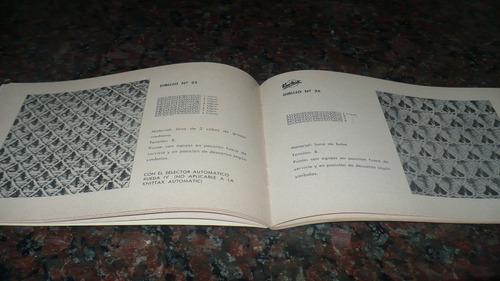 muestrarios de puntos knittax nº 1 maquina de tejer