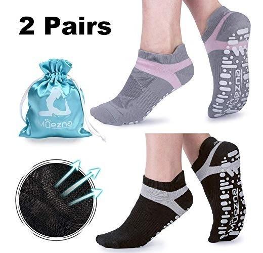 comprar bien mas fiable mayor selección de Muezna - Calcetines Antideslizantes De Yoga Para Mujer, Pil