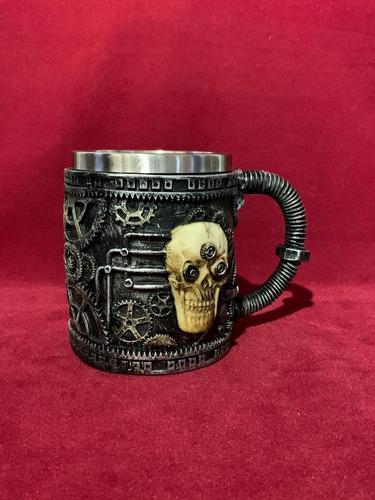 mug 3d calavera resina importado 450 ml