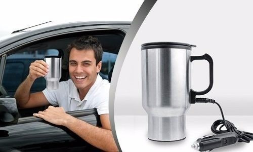 mug taza de acero inoxidable calentador para auto 12v