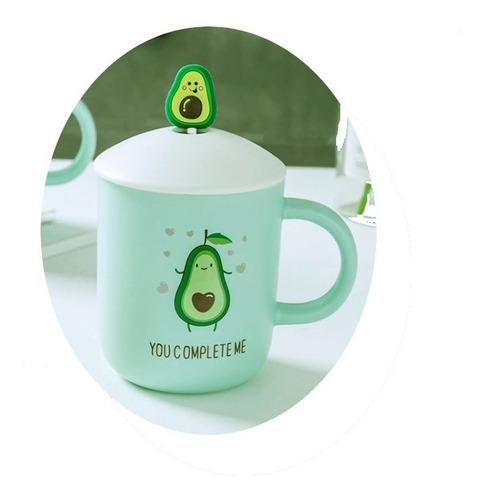 mug taza pocillo aguacate avocado cuchara tapa