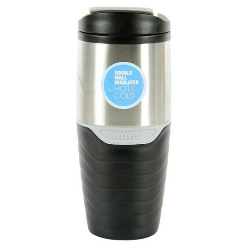 mug viajero rove ttu-u4823 473ml-negro con plateado