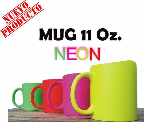 mugs 11 oz neon. personalizado