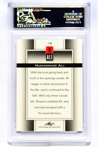 muhammad ali tarjeta psa prismatic seriada /125 grado mint 9