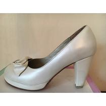 Zapatos De Novia Diseñador Exclusivo. Prácticamente Nuevo!