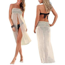 Sexy Vestido Mujer Estilo Crochet Ideal Para Playa Verano 4