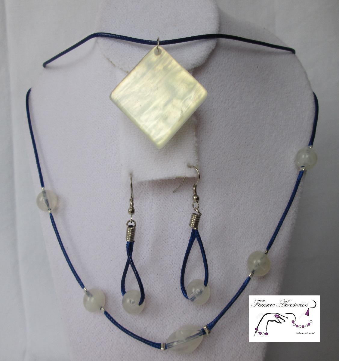 ae36f21faf14 Mujer Accesorios Joyería Bisutería Collar Azul C-058.1 -   23.000 en ...