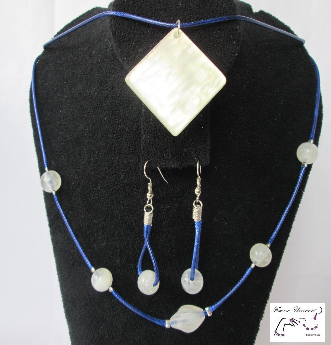 a9296f3bbdd8 Mujer Accesorios Joyería Bisutería Collar Azul C-058.1 -   23.000 en ...
