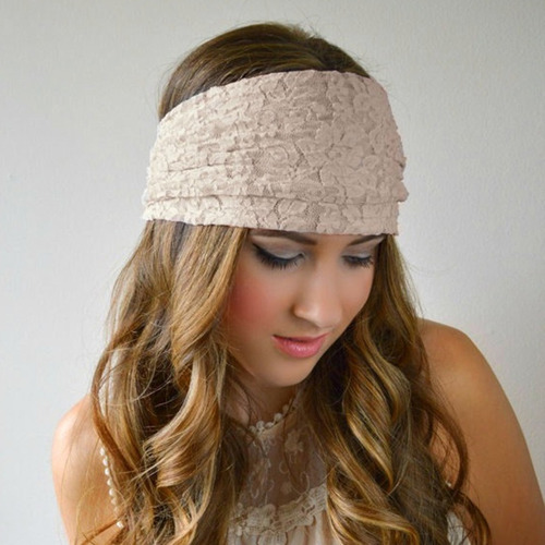 mujer bandanas turban lace hairband headwrap banda ancha de