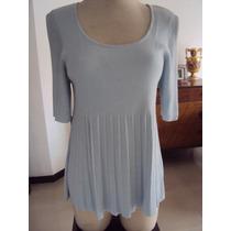 Sweter Tipo Bluzon, Azul Claro Para Dama
