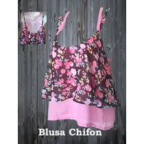 Blusas De Dama A La Moda Chifon, Blonda, Otros