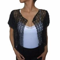 Sobretodo Negro |blusa|bufanda|original| Ropa De Mujer |