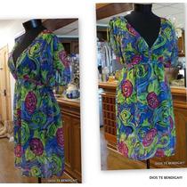 Bluson Vestido Amplia Floral M