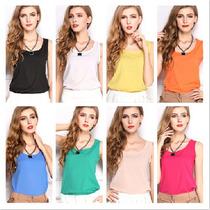 Blusas Dama Camisas Bluson De Chifon Ultima Moda