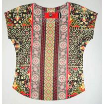 Blusa Estampada Multicolor. (20% Descuento X Marzo)