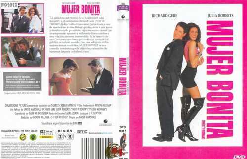 mujer bonita - julia roberts richard gere dvd+ cd soundtrack