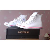 Zapatos Converse De Cuero Blanco Originales