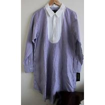 Camisa De Dormir Mujer Ralph By Ralph Lauren Tipo Smoking M