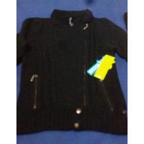 Original Diseño Chaleca Ficcus Negra. Nueva Con Etiquetas