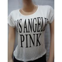 Blusa De Dama Tipo Camiseta Marca Pink Algodon Peruana