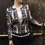 Chaqueta Suéter Mujer Diseño Vintage Lana Tejido