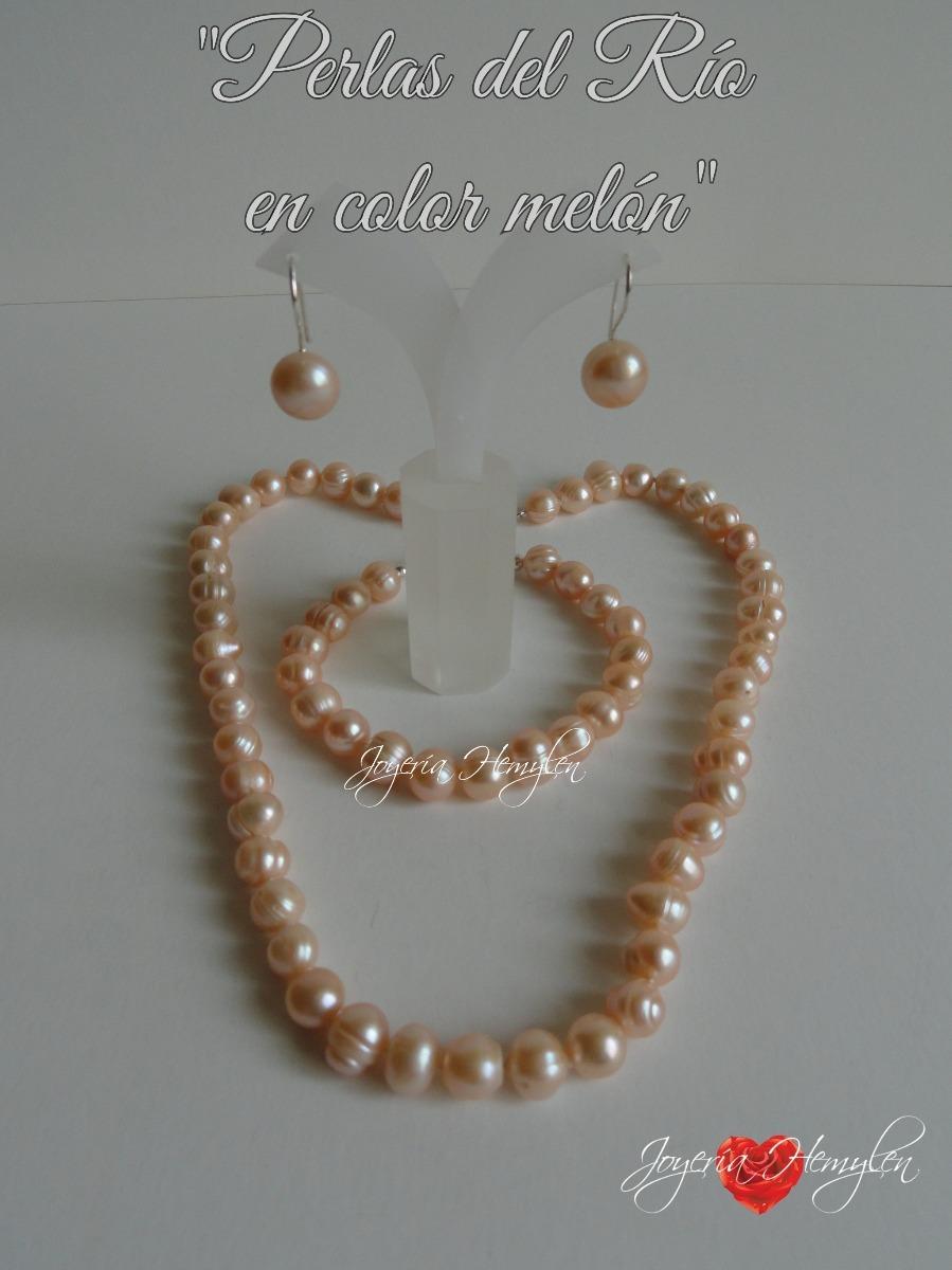 b7d21d004814 mujer collar perlas del rio genuinas naturales plata s .220. Cargando zoom.