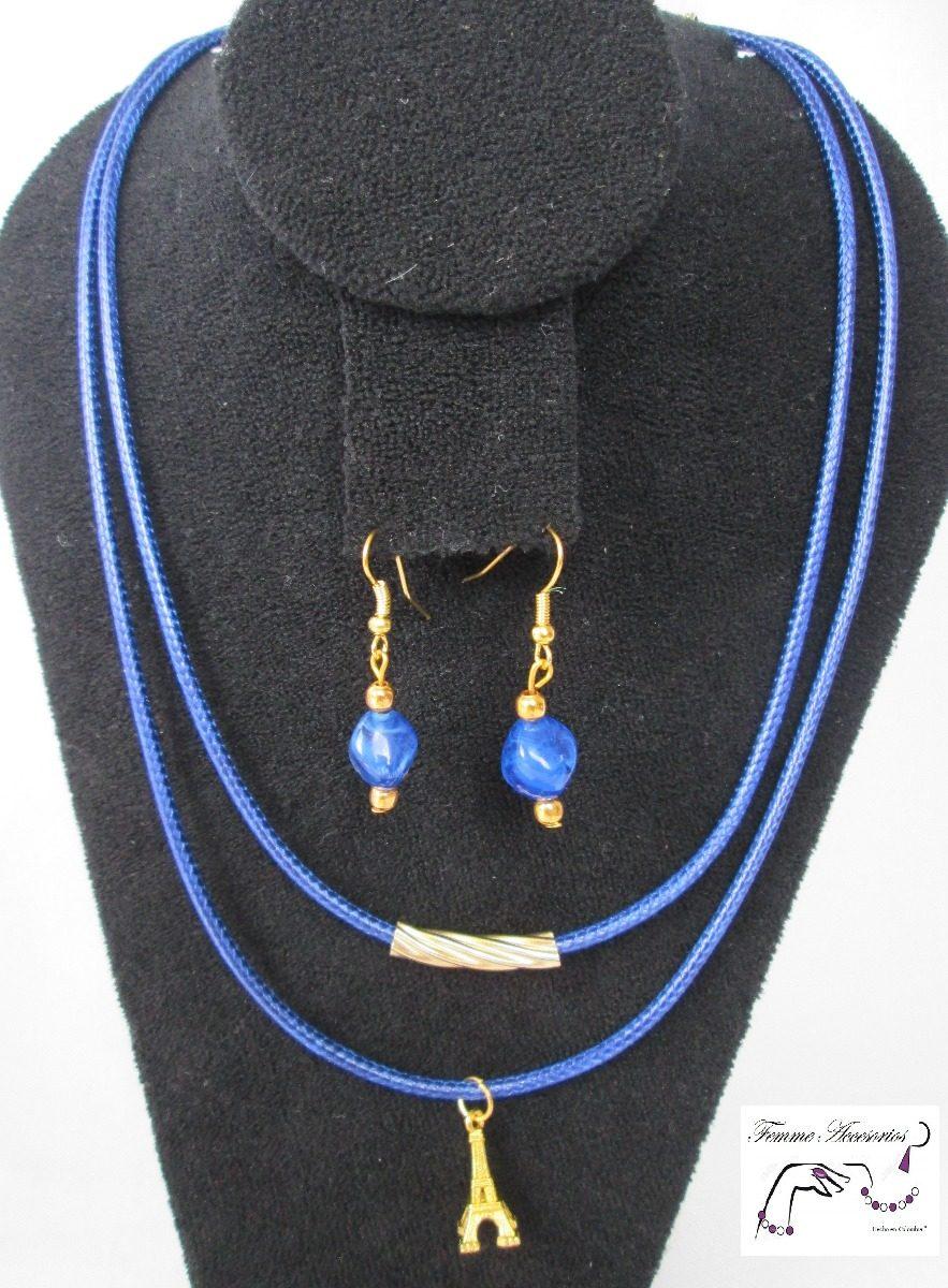a7a25023b44f mujer collares joyería bisutería choker azul parís c162.2. Cargando zoom.